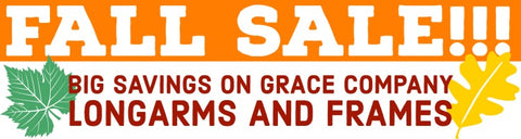 Fall Sale Grace Company Longarms and Frames