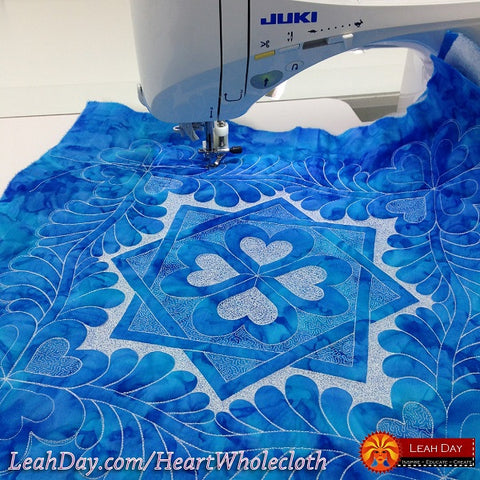 Heart and Feather Wholecloth Quilt Online Class