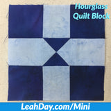 How to Piece an Hourglass Mini Quilt Block
