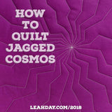 Walking foot quilt jagged cosmos