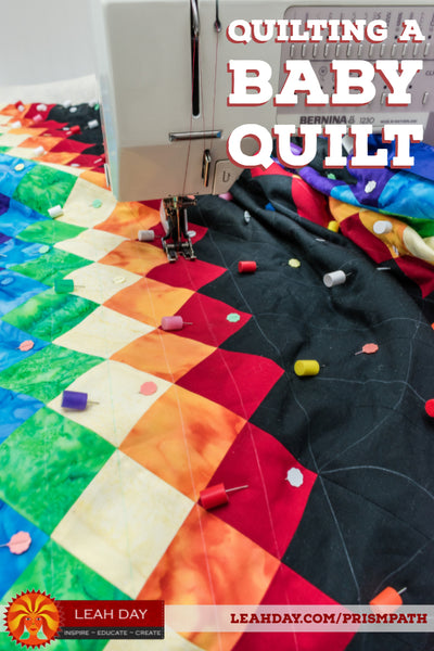 How to quilt a baby quilt straight lines