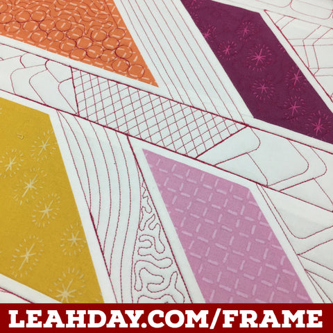 How to Quilt Three Designs with the Slice Ruler | LeahDay.com