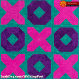 walking foot quilt hugs and kisses
