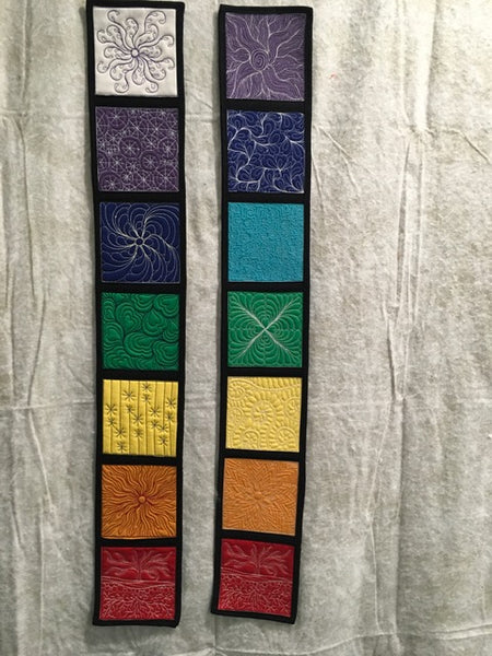 Chakra quilt wall hanging