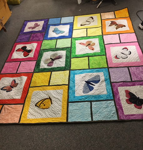 Butterfly applique quilt