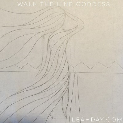I Walk the Line Goddess Art Quilt