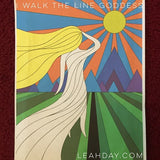 I Walk the Line Goddess Quilt