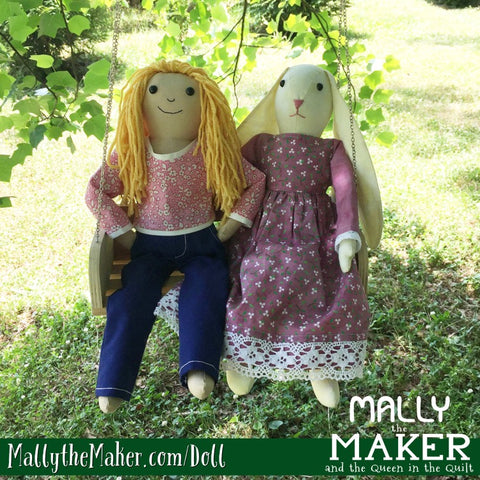 Mally the Maker and Bunny Doll Sewing Patterns