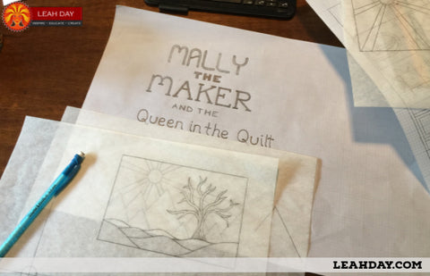 Mally the Maker sketches Leah Day
