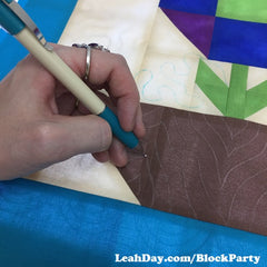 Marking Block 1 | Machine Quilting Block Party