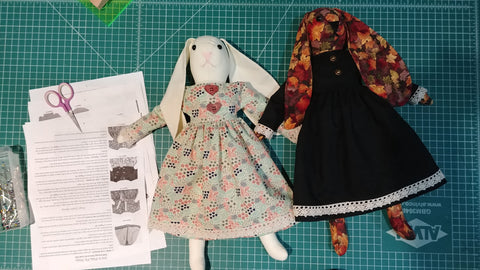 Ms. Bunny handmade doll pattern