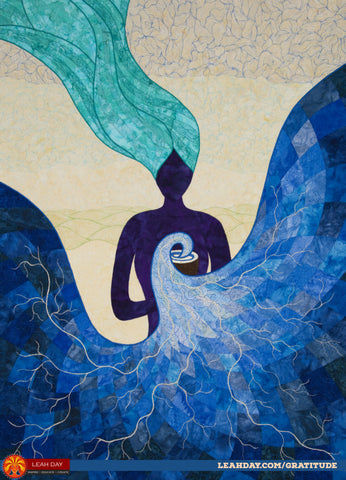 goddess art quilt gratitude Leah Day