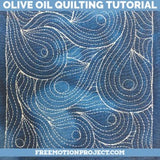 Olive Oil Free Motion Quilting Design