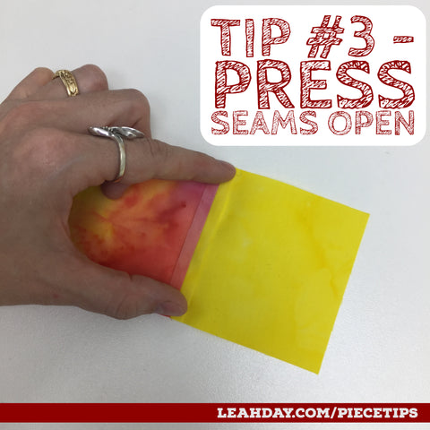 Piecing Tips Press Seams open