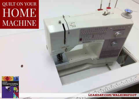 Quilting on your home machine table setup
