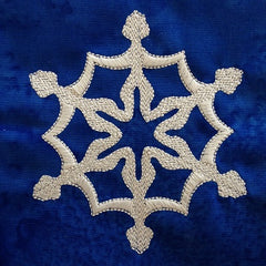 snowflake embroidery design | embroidered snowflake