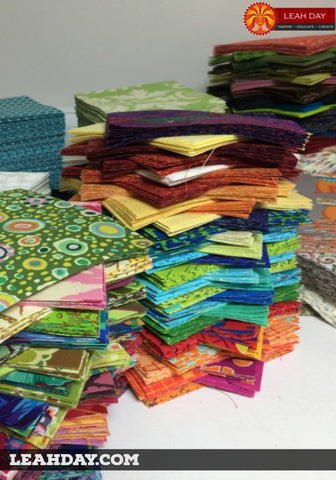 Scrap blocks for Leah Day's Friendship Quilt Along
