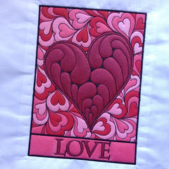 Embroidery Design Love Hearts Paint