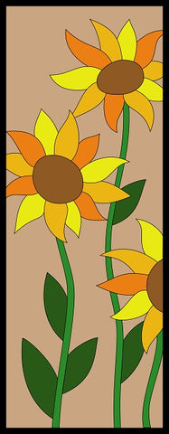 Sunflower Quilt Pattern | Sunflower wall hanging