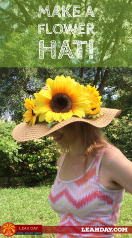 how to make a flowered hat
