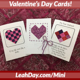 Valentines Day Cards Mini Blocks Project