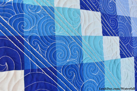 Bobbin Thread Work Waterfall Bargello Quilt