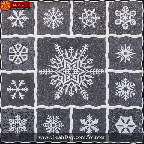 Winter Wonderland Quilt Pattern | Leah Day snowflake