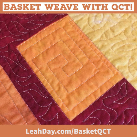 Basket Weave with QCT quilting