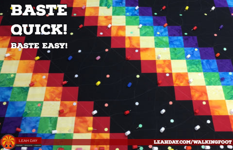 baste a quilt quick and easy