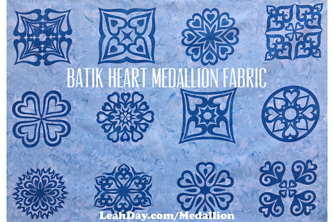 Heart Medallion Batik Fabric