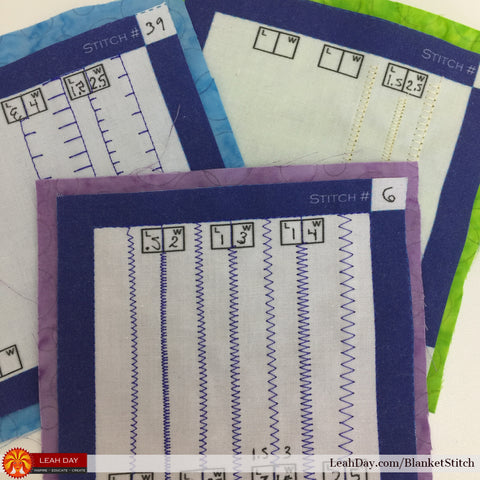 blanket stitch test samples
