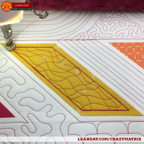 How To Quilt Crazy Matrix On A Home Machine And Longarm Leahday