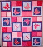 Leah Day Dancing Butterfly pink quilt