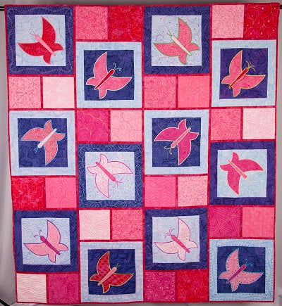 fusible applique quilt | butterfly quilt