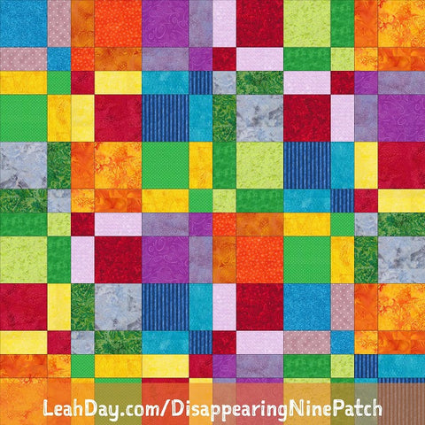 Disappearing Nine Patch Free Quilt Pattern