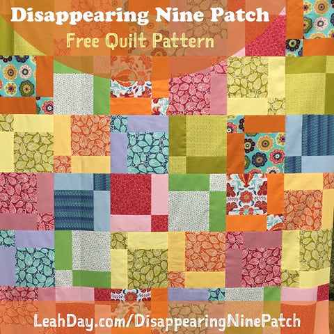 Disappearing Nine Patch free quilt pattern | quilt tutorial