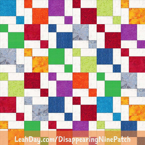 Disappearing Nine Patch Free Quilt Pattern Using Fat Quarters ... : disappearing patch quilt - Adamdwight.com