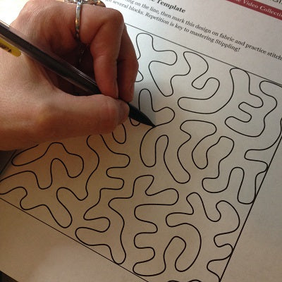 drawing stippling worksheet | free motion quilting