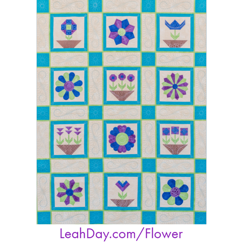 Flower Festival Machine Quilting Sampler Quilt