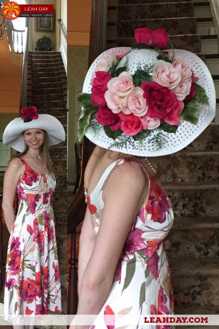 how to make a flower derby party hat