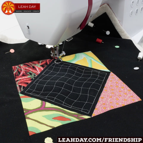 friendship sampler quilt free motion quilting