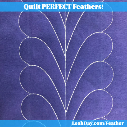 Feather quilting ruler