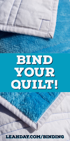 how to bind a quilt with minky