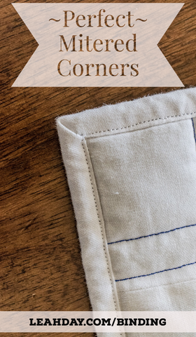 How to bind a quilt with perfect mitered corners