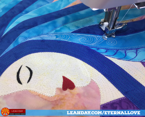 how to quilt eternal love goddess quilt