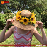 Sunflower hat tutorial