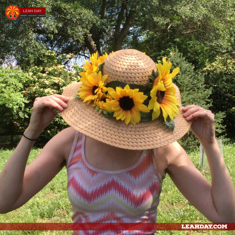 how to make a sunflower hat