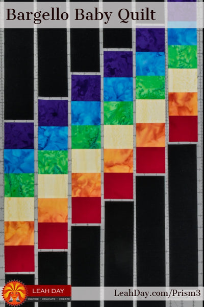 How To Piece A Rainbow Baby Quilt Prism Path Quilt Along