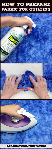 Prewashing Fabric tutorial