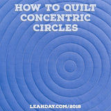 How to quilt concentric circles